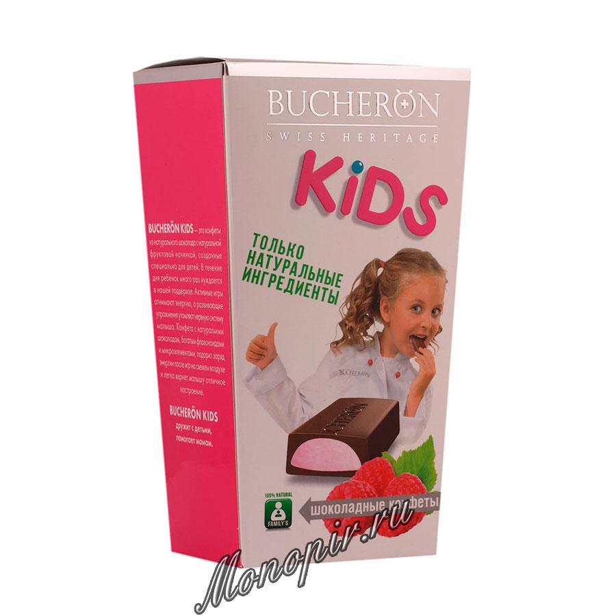 Шоколадные конфеты Bucheron Kids Малиновой начинкой 175 гр