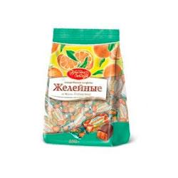 Конфеты Красный Октябрь Желейные со вкусом апельсина 250 гр