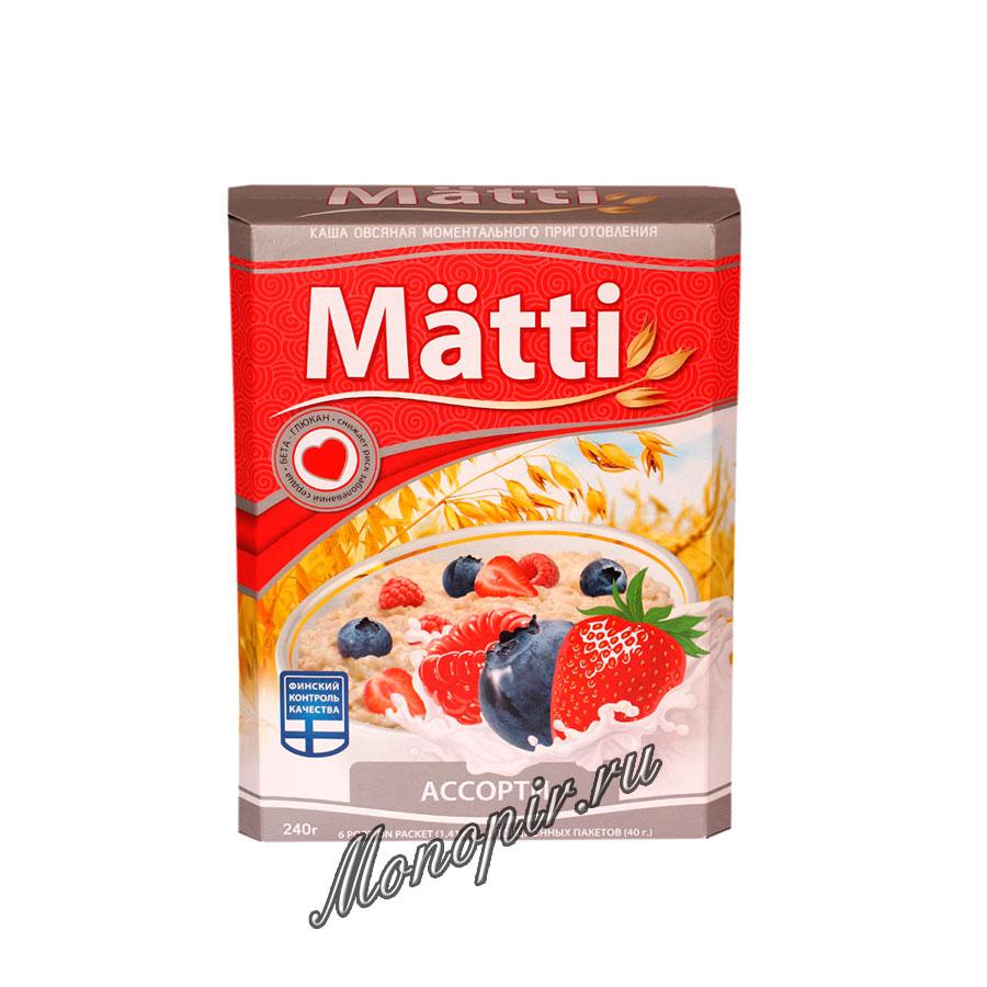 Овсяная каша Matti ассорти