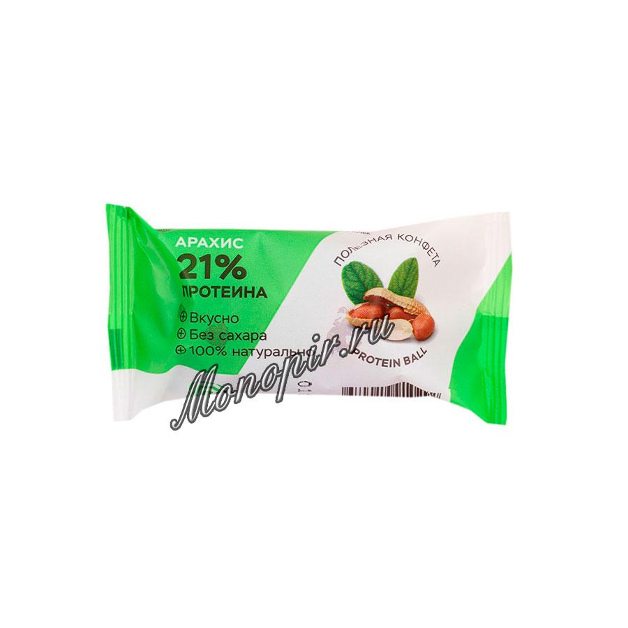 Конфеты HealthyBall Protein с арахисом