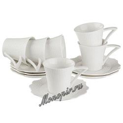 Кофейный набор Lefard на 6 персону Heliotrope 12 пр. (199-057)