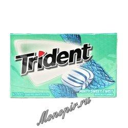 Жевательная резинка Trident Minty Sweet Twis