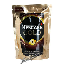 Кофе Nescafe Gold 95 гр пакет