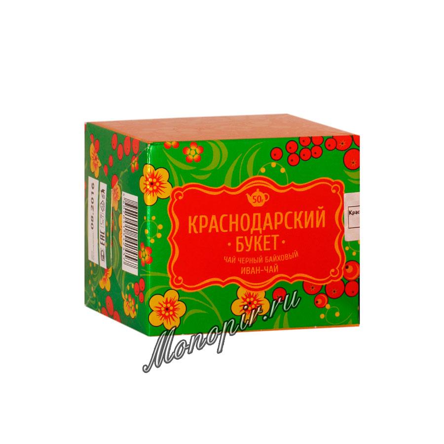 Чай Краснодарский букет черный с Иван-чаем 50 гр