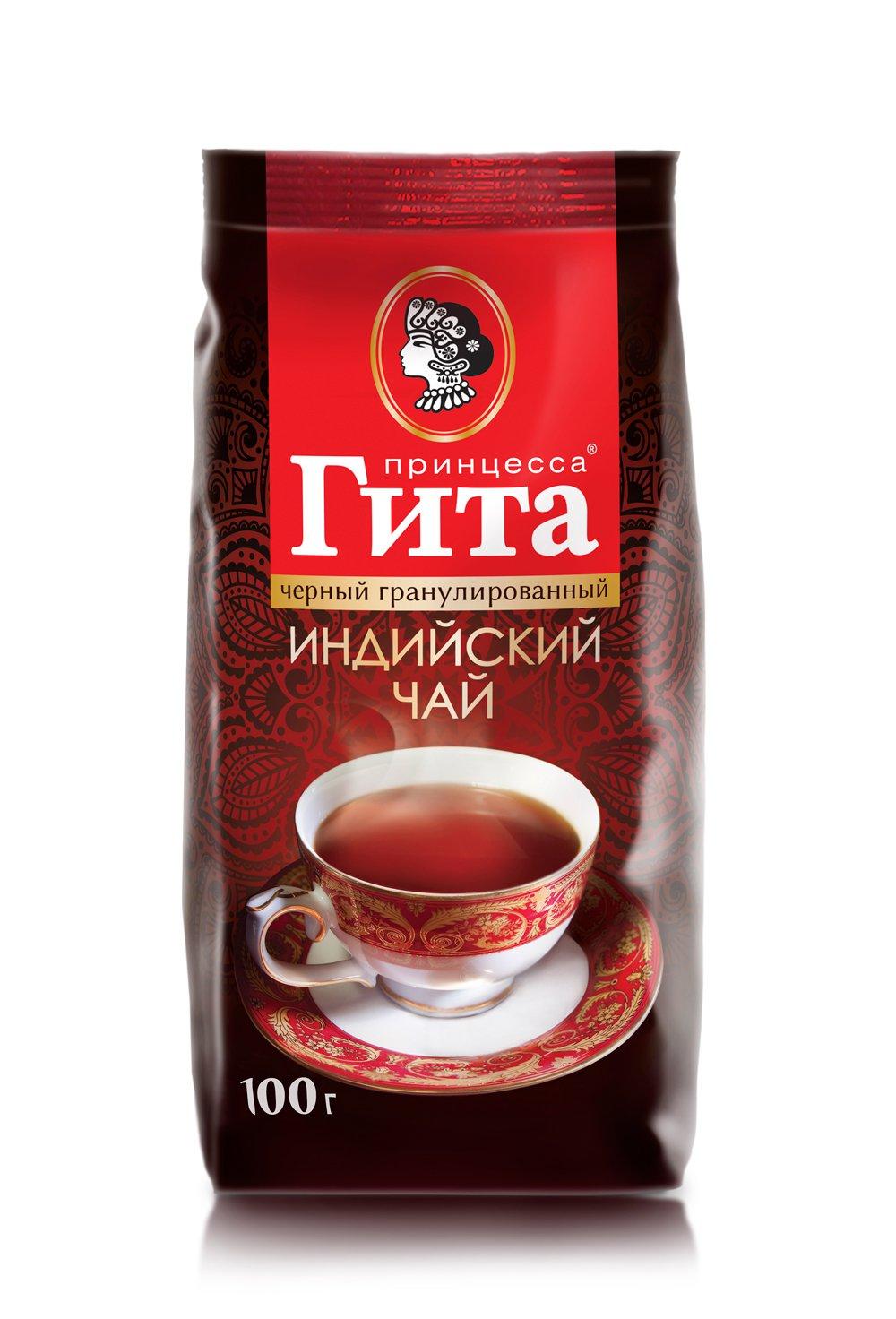 Чай Принцесса Гита Медиум Гранулиров. Черный 100 гр мяг/уп