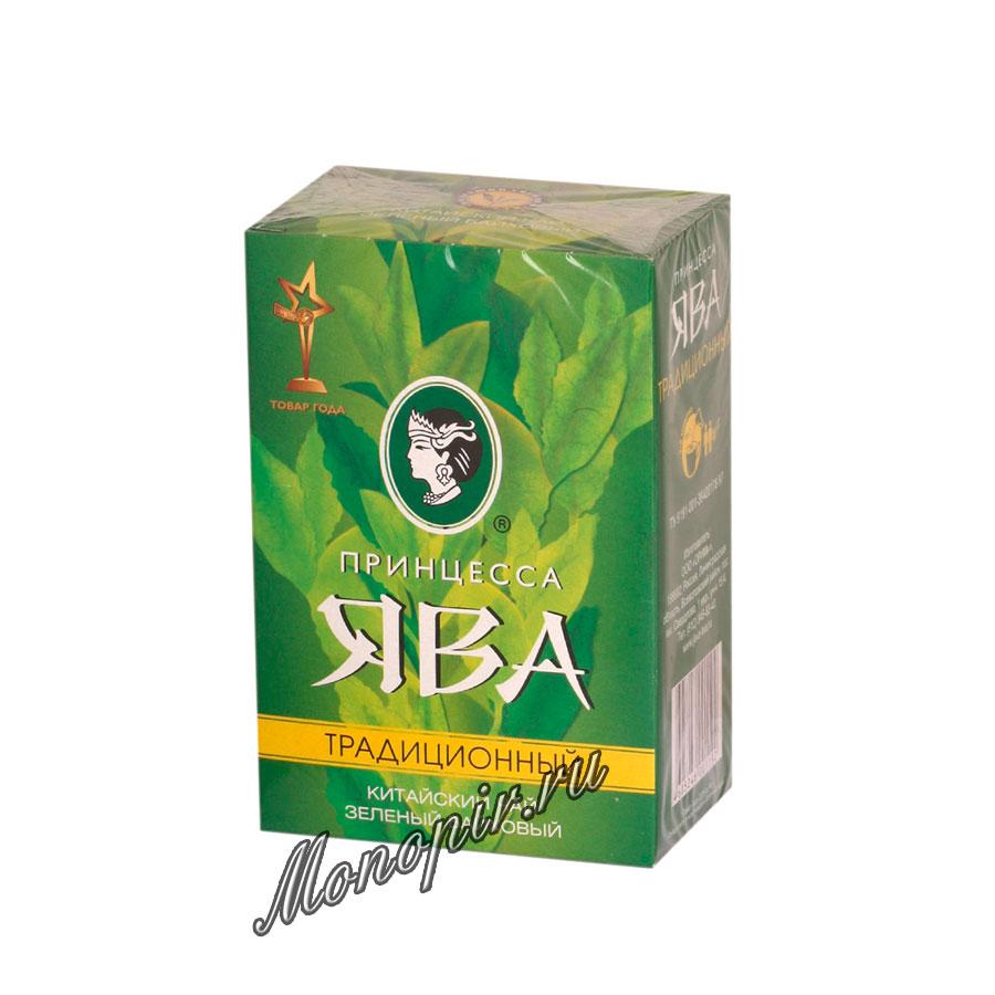 Чай Принцесса Ява Традиционный листовой зеленый 100 гр