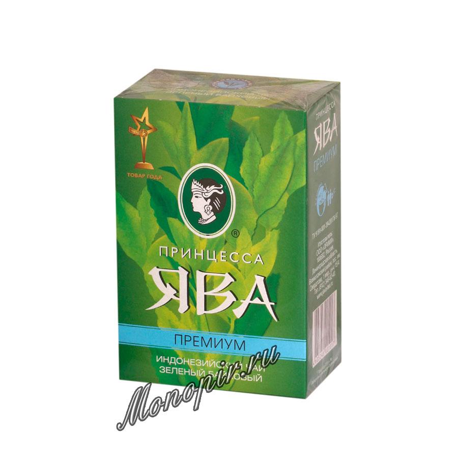 Чай Принцесса Ява Премиум листовой зеленый 100 гр