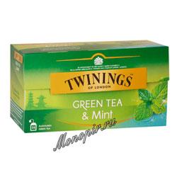 Чай Twinings зеленый  с мятой (25 пакетиков)