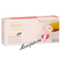 Чай Ronnefeldt Fruity White / Белый чай с фруктами в саше на чашку (Leaf Cup)