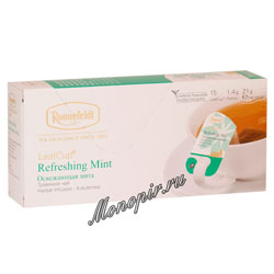 Чай Ronnefeldt Refreshing Mint/Освежающая Мята в сашете на чашку (Leaf Cup)