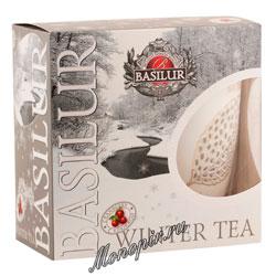 Чайный набор Basilur ВРЕМЕНА ГОДА Зимний с клюквой 100 гр (чай и кружка)