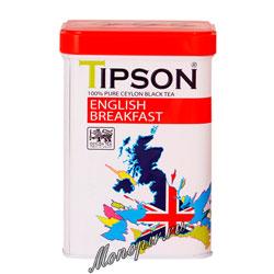 Чай Tipson черный Английский завтрак 85 гр ж.б.