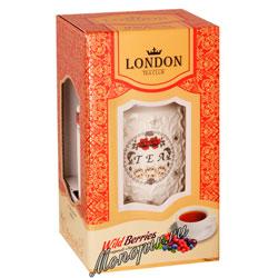 Lоndon Tea Club Черный чай Лесные ягоды 100 г в фарфоровой чайнице