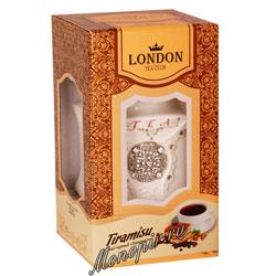 Lоndon Tea Club Черный чай Тирамису 100 г в фарфоровой чайнице