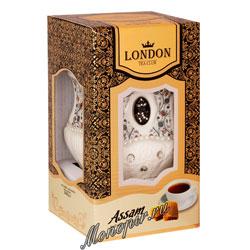 Lоndon Tea Club Черный чай Ассам 100 г в фарфоровой чайнице