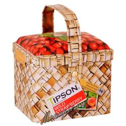 Чай Tipson Basket Willd Strawberry/Лукошко Земляника 80 гр