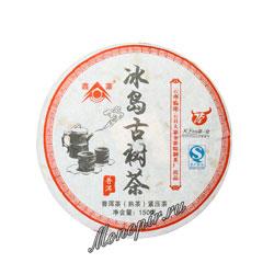 Пуэр блин Холодный остров (шу) 150 гр BT-037