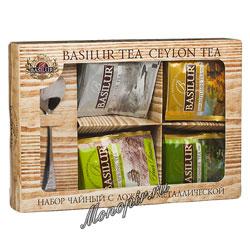 Basilur Чайный набор Времена года Ассорти и ложка металлический