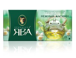 Принцесса Ява Нежный Жасмин пакетики зеленый 25 шт *2 гр