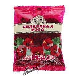 Чай цветочный Добрыня Никитич Суданская роза Каркадэ 70 гр
