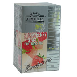 Ahmad Tea Strawberry Cream в пакетиках