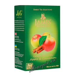 Чай James Grandfather Greentea With Apple&Cinnamon 100 гр