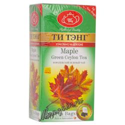 Чай Ти Тэнг зеленый кленовый сироп в пакетиках