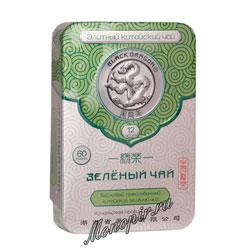 Черный Дракон Прессованный зеленый чай 60 гр ж/б