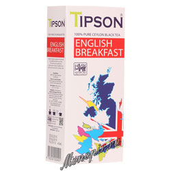 Tipson English Breakfast (25 пакетиков по 2 гр)