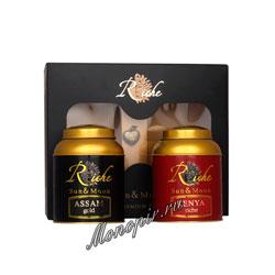 Чай Riche Natur Assam и Kenya по 100 гр и кулон