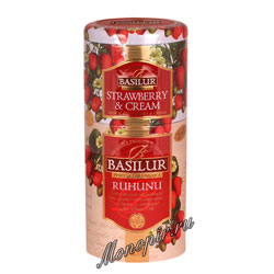 Basilur 2 в 1 Рухуну и клубника с кремом 125 гр