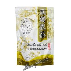 Черный дракон Зеленый чай с цветками жасмина 100 гр