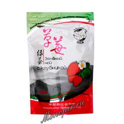Чай Черный дракон Зеленый с Клубникой 100 гр