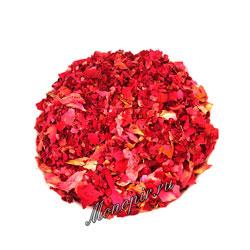 Травы Лепестки Роз красные Китай