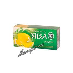 Чай Принцесса Ява Лимон в пакетиках зеленый 25 пак.