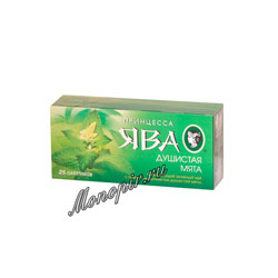 Чай Принцесса Ява Душистая Мята зеленый чай в пакетиках 25 шт* 1.5 гр