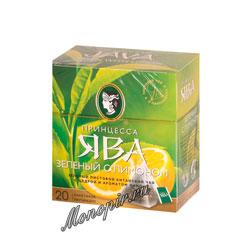 Чай Принцесса Ява Лимон в пирамидках зеленый 20 шт