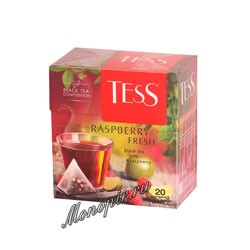 Чай Tess Черный Raspberry Fresh (Лайм и малина) пирамидки 20 пак.