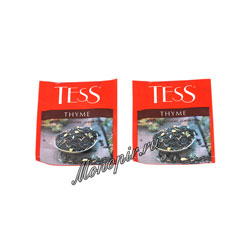 Чай Tess черный Thyme (Чабрец и цедра лимона) 100 пак. п/э ХРК