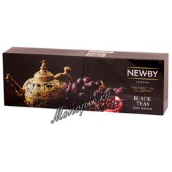 Подарочный набор Newby листового чая Коллекция черных чаев 4 вида