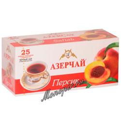 Чай Азерчай Персик черный (25 пак)