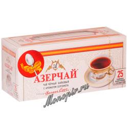 Чай Азерчай Бергамот черный пакетики конверт 25 штук