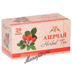 Чай Азерчай травяной с шиповником (20 пак)