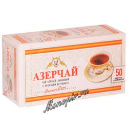 Чай Азерчай Бергамот черный (50 пак.)