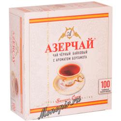 Чай Азерчай Бергамот черный (100 пак.)