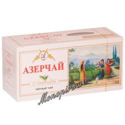 Чай Азерчай черный с чабрецом (25 пак)