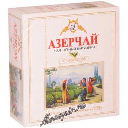 Чай Азерчай черный с чабрецом (100 пак)
