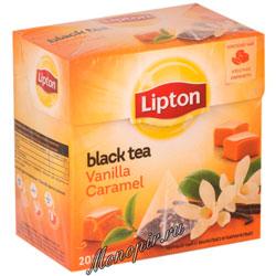 Чай Lipton Vanilla Caramel фруктовый (20 пирамидок)