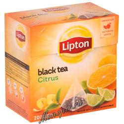 Чай Lipton Citrus фруктовый (20 пирамидок)