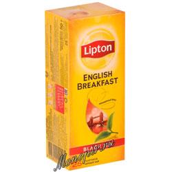 Чай Lipton English Breakfast черный (25 пакетиков)